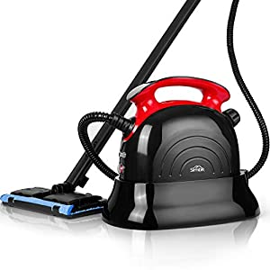 SIMBR Steam Cleaner, Best Steam Mop, Maximum 6M Cleaning Radius, 1.1L Multipurpose Steamer with 13 Accessories for Floors, Carpet, Garment, Windows, Home Use and More