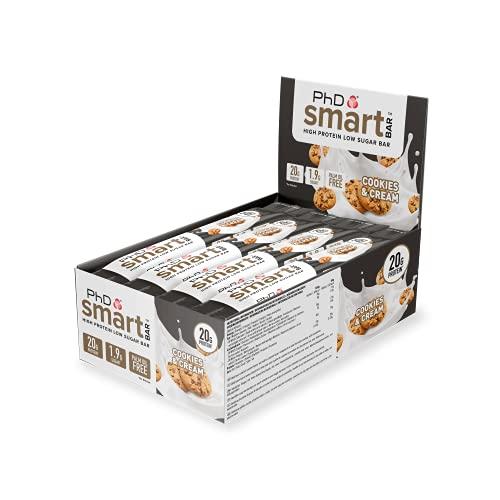 Phd Barrette Diet Smart Bar, Biscotti e Crema, 12 X 64 g, L'imballaggio può variare