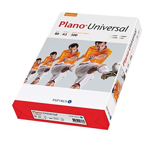 Papyrus 88026736 Drucker-/Kopierpapier Planouniversal, 80 g/qm, DIN A3, 500 Blatt, weiß, holzfrei, matt
