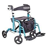 Chariots de courses caddie pour personnes âgées caddie senior aide à l'épicerie peut supporter 130 kg (Color : Blue, Size : 45 * 24 * 53cm)