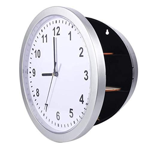 Caja De Seguridad De Plata Del Reloj De Pared Secreto Del Abs, Para El Dinero En Efectivo Del Depósito De Los Objetos De Valor De La Joyería Del Escondite