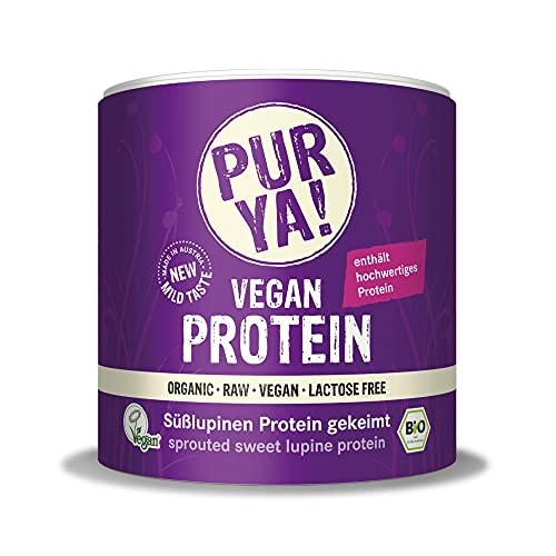 PURYA! BIO SÜßLUPINEN Protein-Pulver, für Smoothies, Shakes, Salate oder Müslis, veganes Protein für Muskelaufbau und Fitness, vegan und laktosefrei, 250g