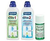 DC NUNCAS Set DETERGENTE per Tende - Lava Tende 1, 750ML - Cura Tende 2 più Deodorante SALVATESSUTI 150ml Muschio Bianco