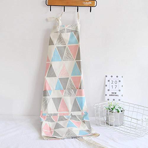 JJFU keukenschort 1 stuk plaid patroon schort voor dames volwassenen kinderen slabbetjes keuken huishouden koken, winkel schort voor het reinigen van keukenaccessoires Adult L Een
