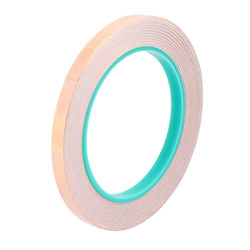 Aexit 8mm breite 20m lange diy klebstoff doppelseitig leitfähiges kupferfolienband (ac72b5986e3b67dc9eef9458edccbe9b)