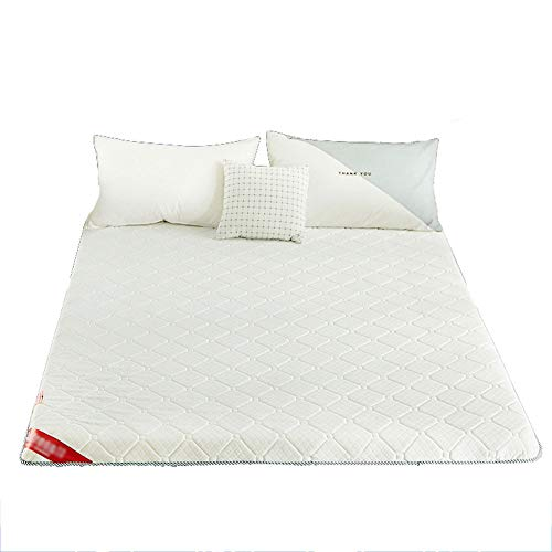 Gray Japanese Floor Futon Mattresses, Floor Futon Mattress, Breathable Tatami Fold Wool Wrap Mattress Thick Warm Bed Pad Double Sleeping Mat,King:180x200cm