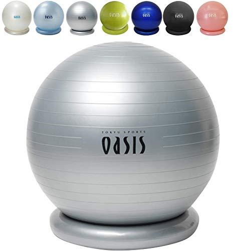 東急スポーツオアシス バランスボール 65cm(リング & DVD & ハンドポンプ付) シルバー