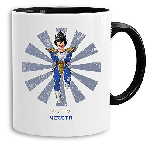 Vegeta Star - Tasse Kaffeetasse Son Ruffy Luffy Naruto Saitama One Dragon Master Goku Ball Vegeta Roshi Piece Db, Farbe:Weiß