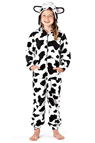 Meisjes eendelig met capuchon fleece Alles in één kinderbedrukt jump pyjama nachtkleding knuffelig pyjama's