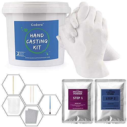 Hand Casting Kit Couples & Molding Kits for Adults, Wedding, Friends, Keepsake Hand Mold Kit Couples for Anniversary and Holiday Activities by Godora