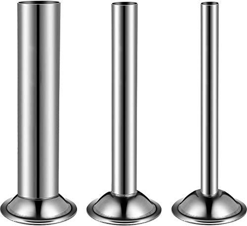 LiebHome lot de 3 tubes de remplissage en acier inoxydable pour hachoir à saucisse manuel #8 12 mm/19 mm/32 mm #8 Stainless Steel Funnels