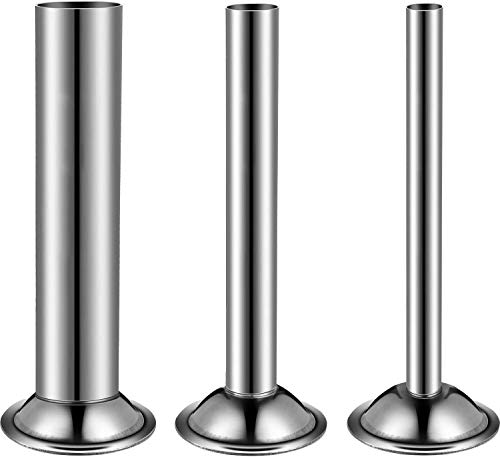 DumanAsen - Tubos de relleno de embudos de acero inoxidable para embutidos manuales, para molinillos de carne #8, Φ12mm/Φ19mm/Φ32mm (juego de 3)