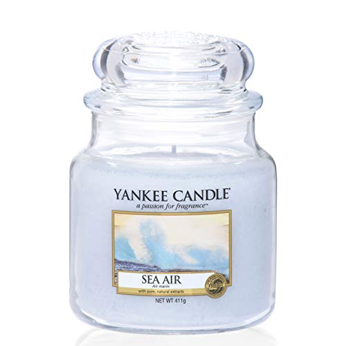 Yankee Candle Candela profumata in giara media   Aria di mare   Durata Fino a 75 Ore