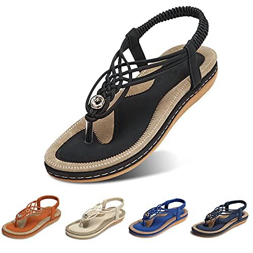 gracosy Sandales Plates Femmes, Chaussures Été Confortable...