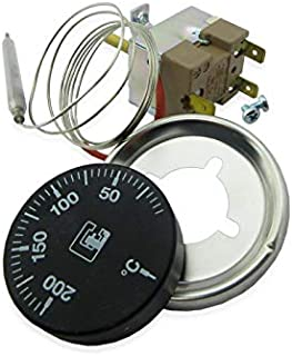 Kit TY95 0-200/ºC termostato capilar regulaci/ón para instalar en caja; sonda 3 metro Campini freidoras.