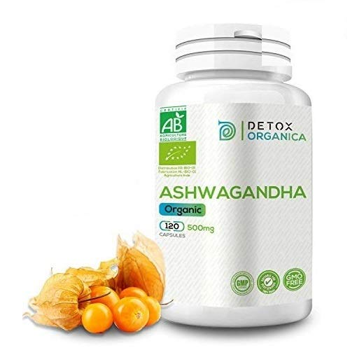 D.O. Organic Ashwagandha Capsules, 120 caps of 500mg, Herbal Ayurveda Supplement Suitable for Vegan, Non GMO, Lacto Free, Gluten Free
