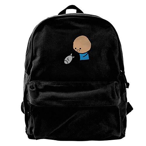 NJIASGFUI Canvas Rucksack F Bomb Cyanid & Happiness Rucksack Gym Wandern Laptop Schultertasche Daypack für Männer und Frauen
