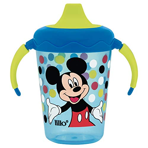 Caneca Lillo Antivazamento Aprendizado Disney 207 ml - Lillo, Azul