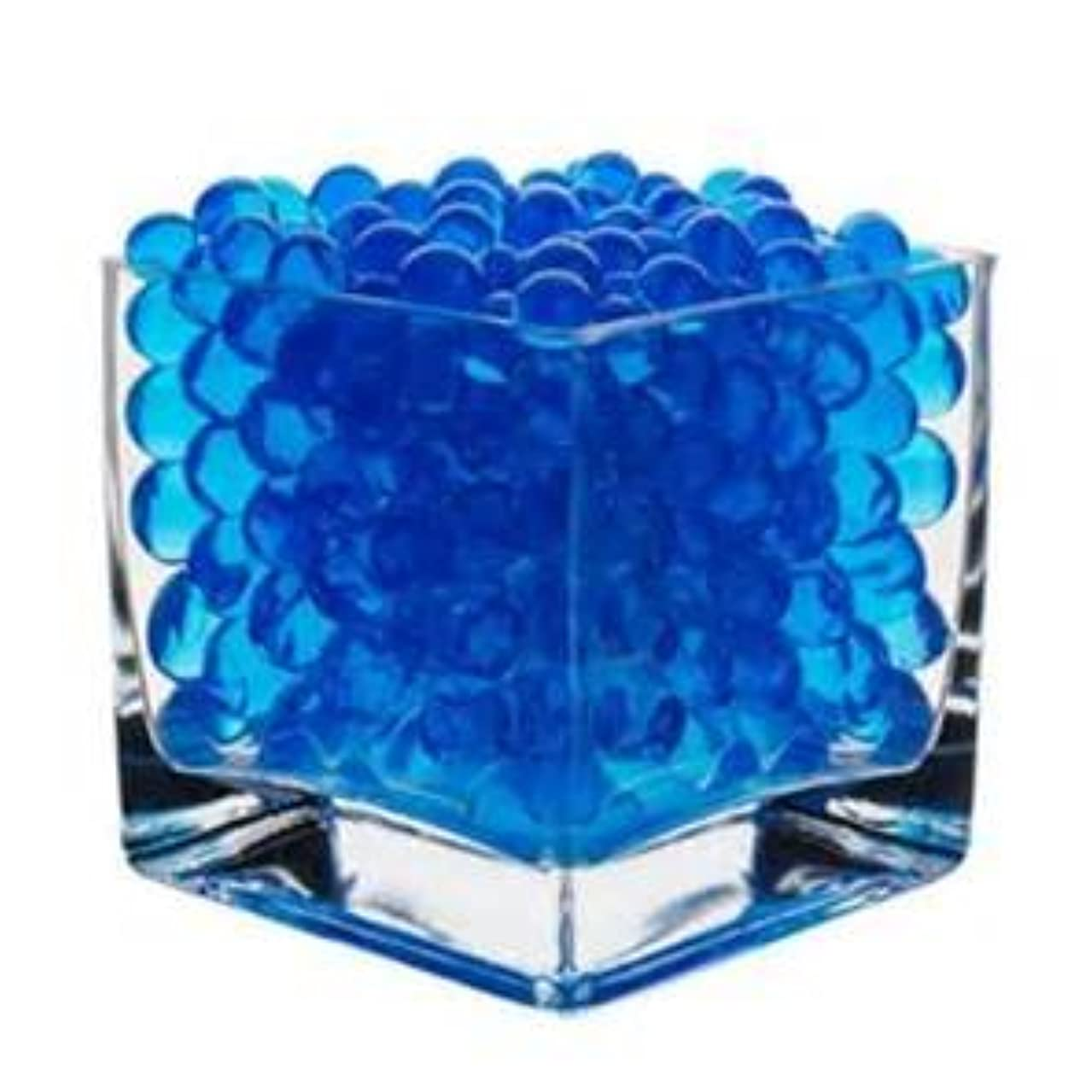 JellyBeadZ Brand - 8oz -Almost 15,000 Water Bead Gel - Heat Sealed Bag- Water Pearls Gel Beads- Wedding & Event Centerpieces - Blue