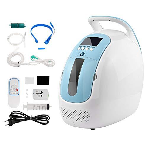HUKOER Concentrador de oxígeno portátil 1-5L / min Concentrador de oxígeno Ajustable para el...