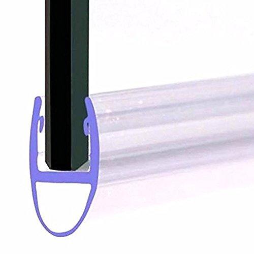 Home Standard® - Sello para mampara de ducha (grosor de cristal de 4 a 6 mm, longitud de ala: 14 mm, espacio para sellar de 12 a 14 mm)