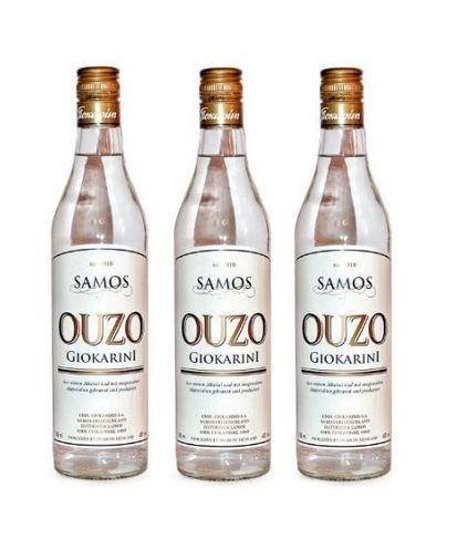 3x 700ml Ouzo Samos griechischer Trester Tresterbrand Ouzo Schnaps aus Griechenland + Probiersachet Olivenöl aus Kreta