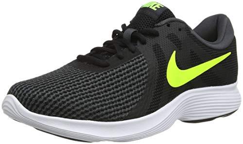 Nike Zapatillas DE Running Revolution 4 EU Deporte Hombre, Negro (Black/Volt-Anthracite 007), 41