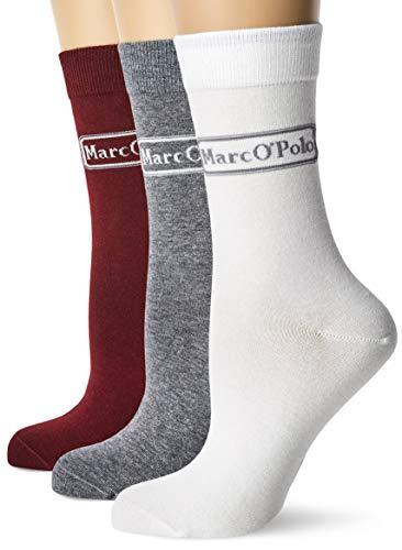 Marc O'Polo Body und Beach Damen W (3-PACK) Socken, Mehrfarbig (sortiert 1 901), 35/38 (Herstellergröße: 400) (3er Pack)