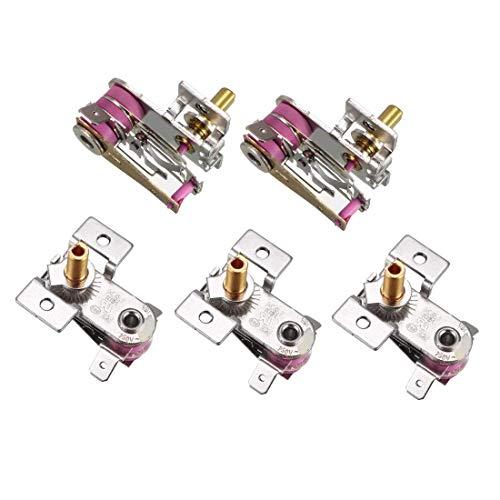 DealMux Elektroherd Thermostat, einstellbar Bimetall Reiskocher Heizung Temperaturregler, 16A Normal Schließen N.C 5St