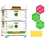 Apimaye 10 Frame Langstroth Insulated Bee Hive Set with Wooden Frames...