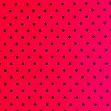 LAS TELAS ... Tela Lunares Rojo-Negro 5mm. Ancho 1.50 Mtrs. 1 Mtr.