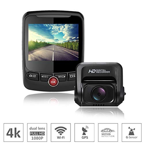 SZKJ T690 Mini cámara oculta 4K DVR de doble canal Full HD 1080p+1080p frontal y trasera con ADAS GPS gran angular WDR WiFi visión nocturna, monitor de estacionamiento