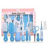 Babypflege Set, 10-teilige Baby Starterset,Baby Pflege Produkte mit Digitalem Fieberthermometer & Nasensauger, Babypflegeset für Neugeborene Kleinkinder Babys Nagel Haar Gesundheitsse Geschenk