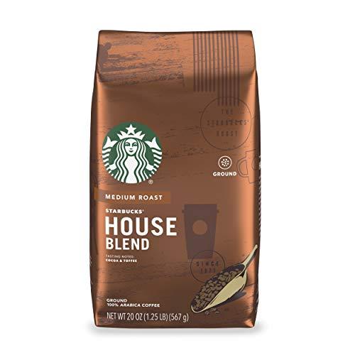 Starbucks Medium Roast Ground Coffee — House Blend — 100% Arabica — 1 bag (20 oz.)