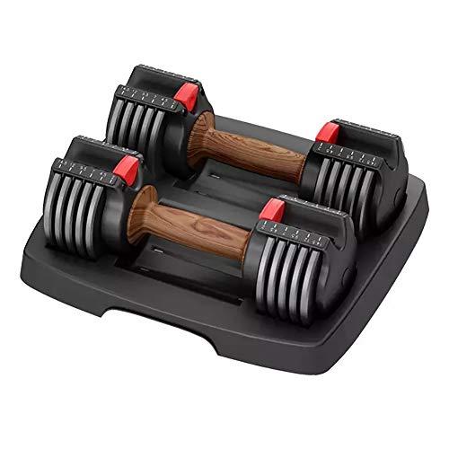 XIAOFEI Home Fitness Automatisch verstellbare Kurzhantelgarnitur Fitnessgeräte Training Präzise Gewichte, intensives Training, deutliche Muskelzuwächse