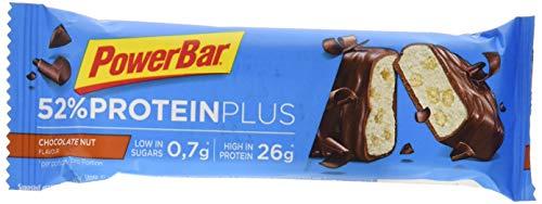 PowerBar ProteinPlus 52% - Nutrición deportiva - Chocolate Nuts 24 x 50g marrón/azul 2018