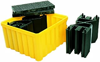 UltraTech 1057 Polyethylene Ultra-IBC Spill Pallet Without Drain, 16000 lbs Capacity, 5 Year Warranty, Yellow