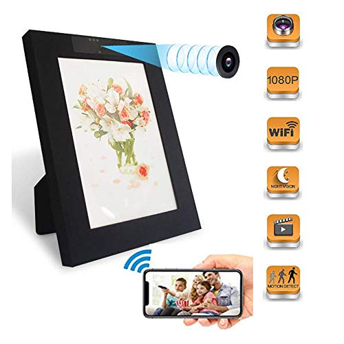 Sensico Wireless Photo Frame Hidden Camera, WiFi Mini Picture Frame Spy Camera with Night Vision,...