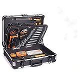 Caja de Herramientas, 136 Pcs, Maletín de Herramientas de Aluminio, Juego de Destornilladores de Precisión, Martillo, Alicates