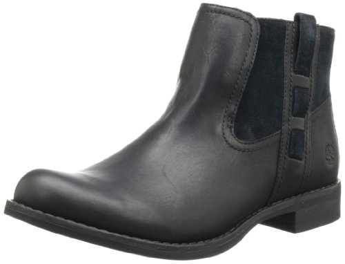 Hot Sale Timberland Women's Savin Hill Chelsea Ankle Boot,Black,7 M US