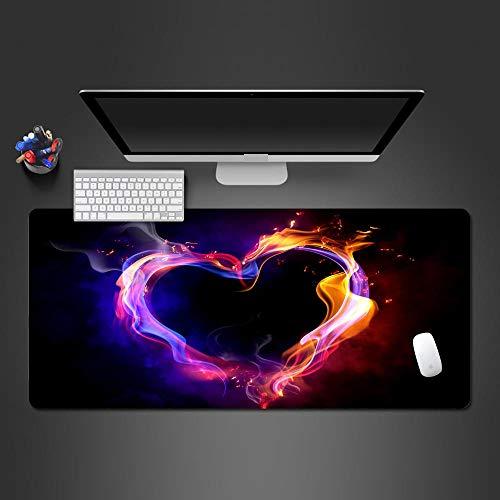 KNCUBE Alfombrilla Ratón Gaming Patrón de Amor Colorido Creativo Alfombrilla de Escritorio, con Bordes Cosidos Impermeable Protector Mesa Escritorio la Oficina y el Hogar Grande Mouse Pad 900x400mm