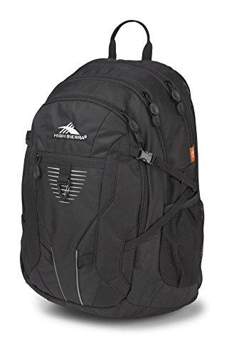 High Sierra Aggro Backpack, Black, 20 x 13.5 x 8.5-Inch