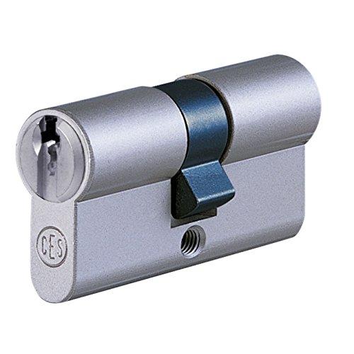 CES UDM Doppelzylinder 27/27 inkl. 5 Schlüssel - Sicherheitszylinder - inkl. Sicherungskarte - verschiedenschließend