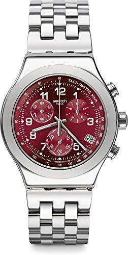 Swatch Reloj Cronógrafo para Hombre de Cuarzo con Correa en Acero Inoxidable YVS456G