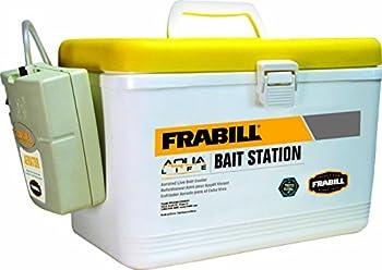 Frabill Live Bait Storage Cooler with Portable Aerator 8 Quartz