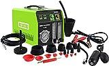 MR CARTOOL T130 Máquina detectora de Humo EVAP para automóvil, probador de Fugas de Combustible automotriz de Modo Dual de 12 V con manómetro para vehículos, Motocicletas