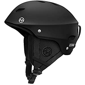 OutdoorMaster KELVIN Ski Helmet – with ASTM Certified Safety, 9 Options – for Men, Women & Youth