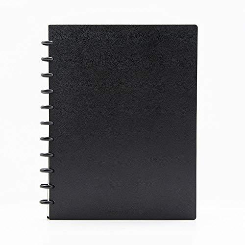 A4 Notizblock, Pilzloch-Plastikschnallenbindung, Pp-Cover-Werbegeschenk-Notizbuch, 22 * 30 Cm, Schwarz