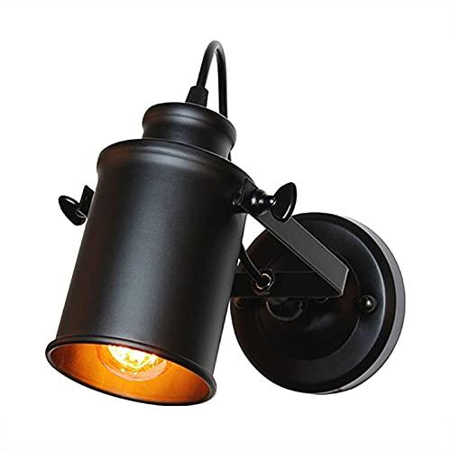 Linterna de pared negra ajustable Vintage Metal Metal Sconte Apliques Montado Luces Ligeras Lámpara Lámpara Lámpara Aisle Cocina Sala de estar Perfecto para Edison Elegante Industrial