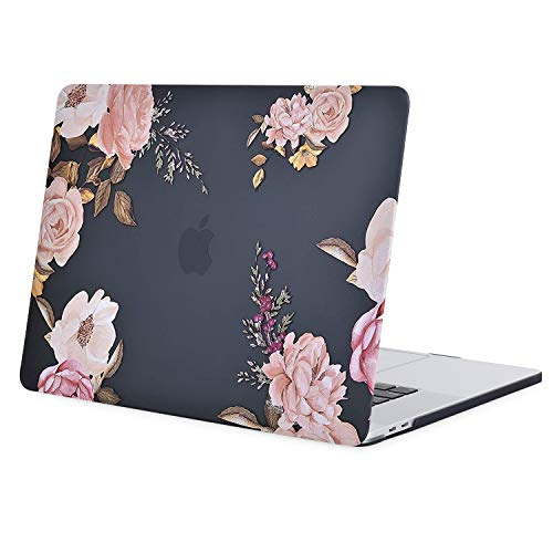 MOSISO MacBook Pro 16 inch Case 2020 2019 Release A2141 with Touch Bar & Touch ID, Plastic Pattern Hard Shell Case Cover Compatible with MacBook Pro 16 inch, Pink Peony